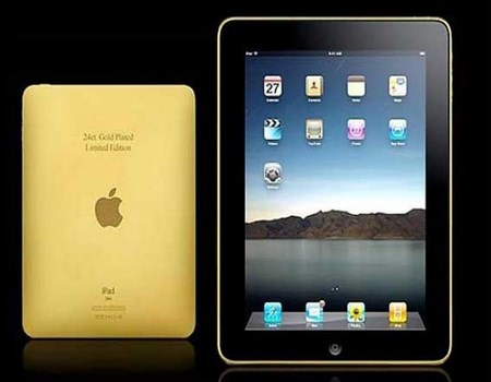 iPad de oro con 24 quilates