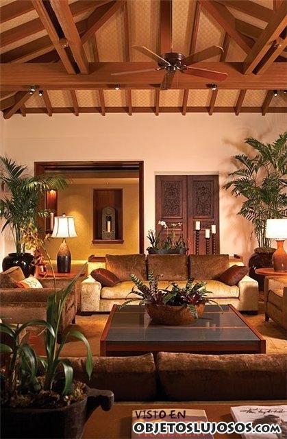 interior de lujo en madera