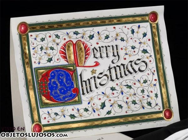 La tarjeta de Navidad más cara