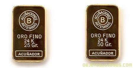 Lingotes de Oro de 24 Quilates