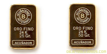 Varios lingotes de oro