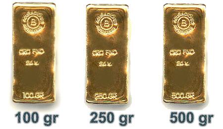 Lingotes de Oro de hasta 31.000 Euros