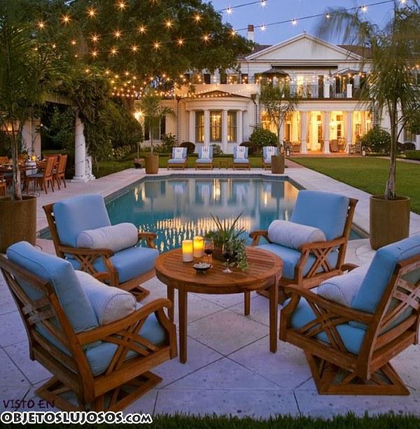 patios muy elegantes en mansiones