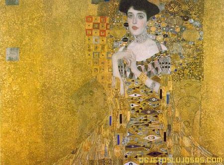 Obra de arte hecha de oro