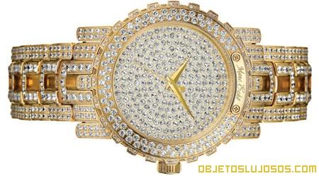 Reloj cubierto de cristales Swarovski
