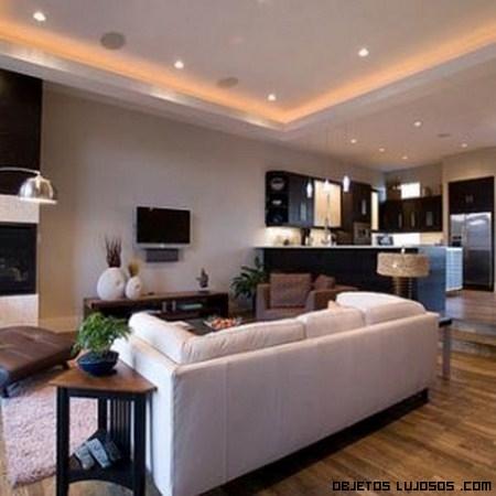 Techos con efectos de iluminaci n - Iluminacion de interiores de casas ...