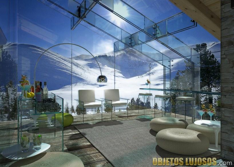 Terraza casa de cristal