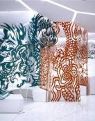 Restaurante japonés abstracto