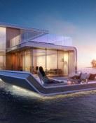 Floating Seahorse, una casa en medio del mar