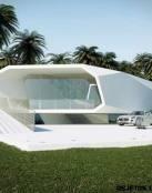 Una casa de verano con forma de ola