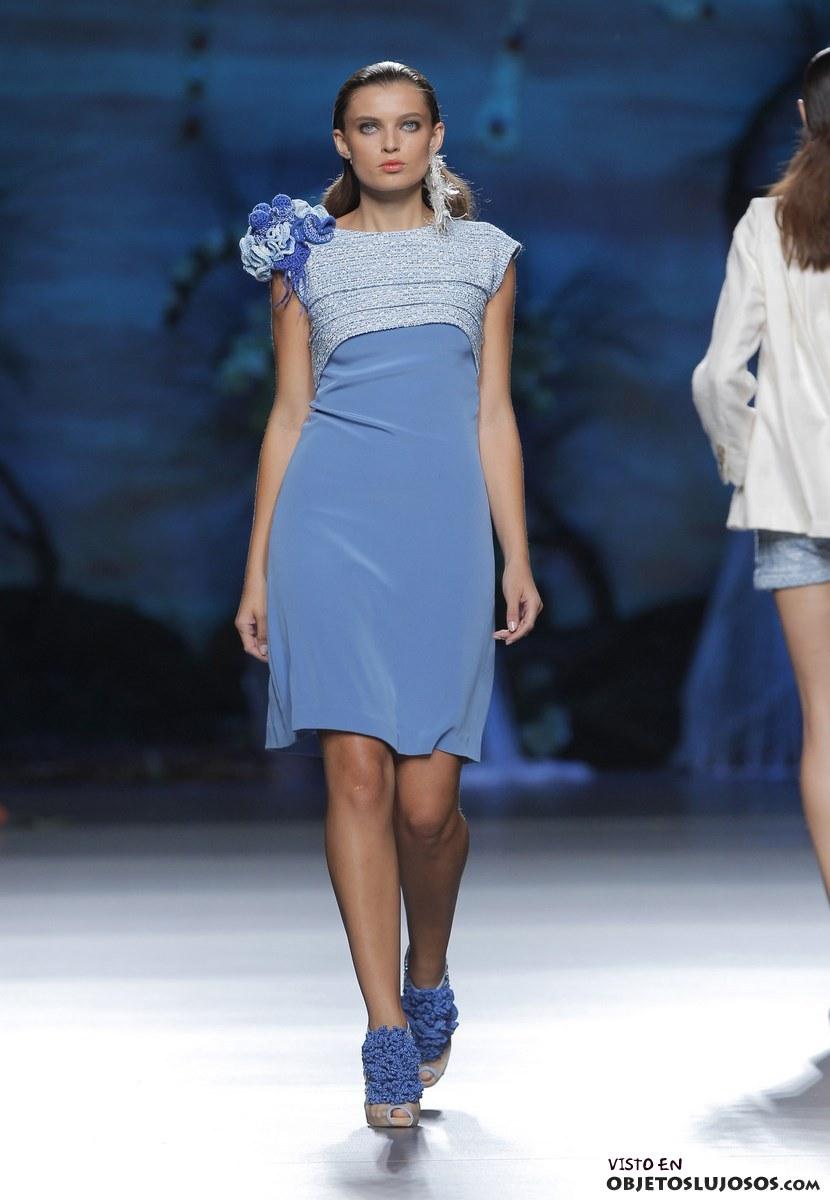 Vestido azul Francis Montesinos
