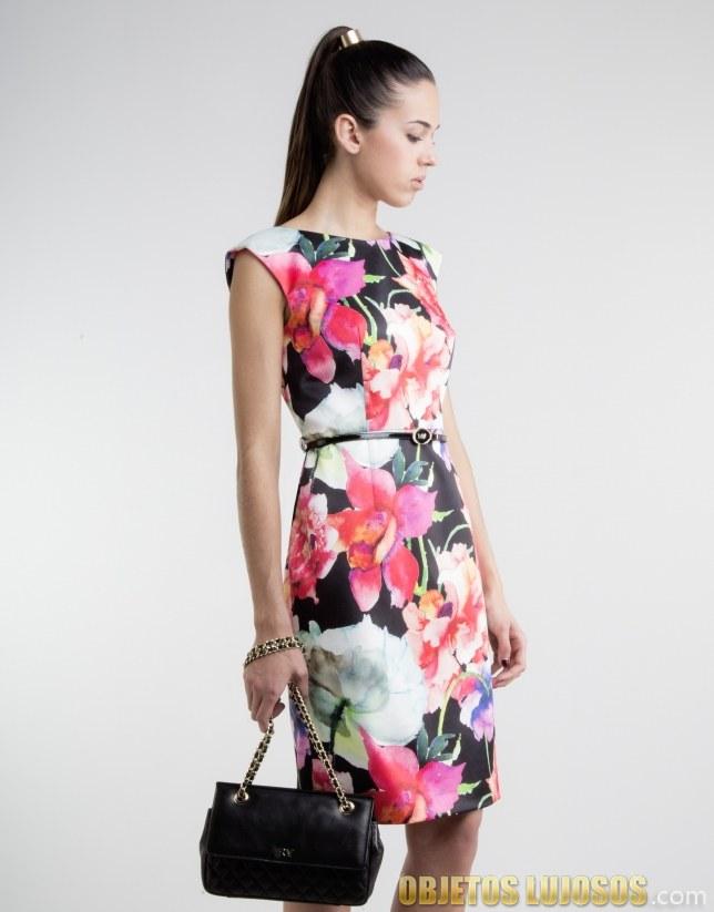 vestido roberto verino con grandes estampados