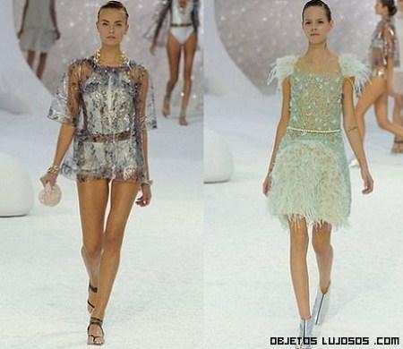 vestidos de colores Chanel 2012