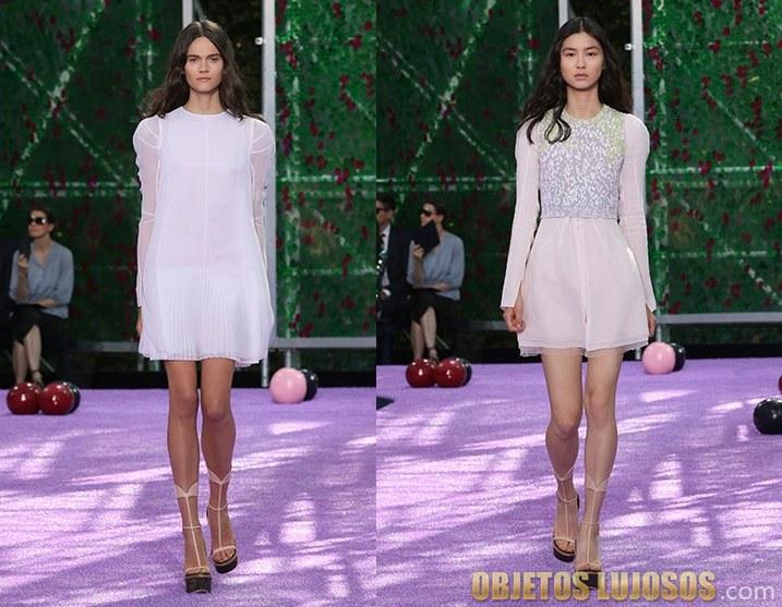 vestidos cortos de Dior 2015-2016