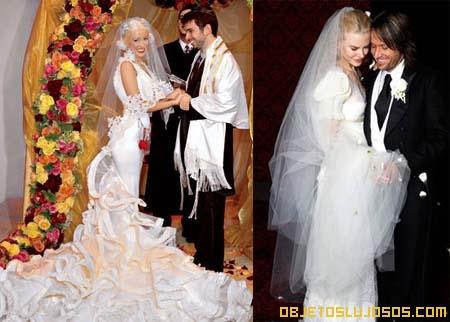 Vestidos de novia lujosos de las famosas