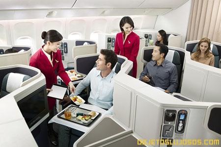 El asiento de avión mas cómodo y lujoso
