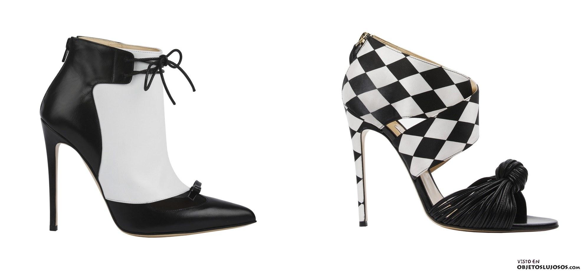 zapatos bicolor Biona Castana