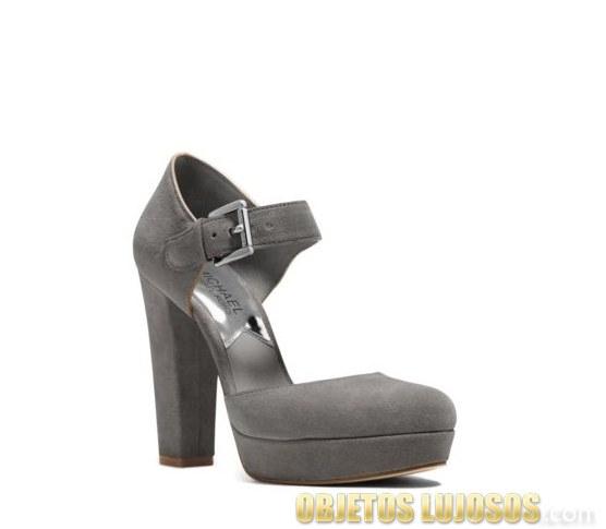 zapatos de tacón ancho michael kors