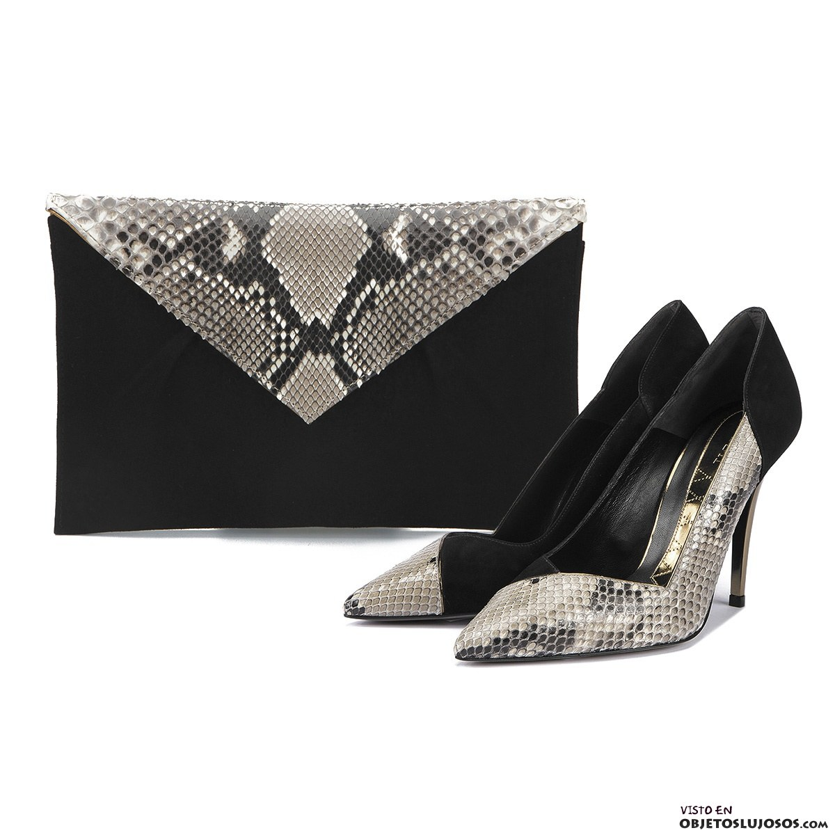 zapatos y bolso pitón de Magrit